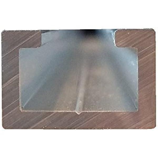 Perfil de aluminio en C, 1 m, apto para tornillo M8, anodizado, perfil de aluminio en C, perfil 17 x 11 mm: Amazon.es: Bricolaje y herramientas