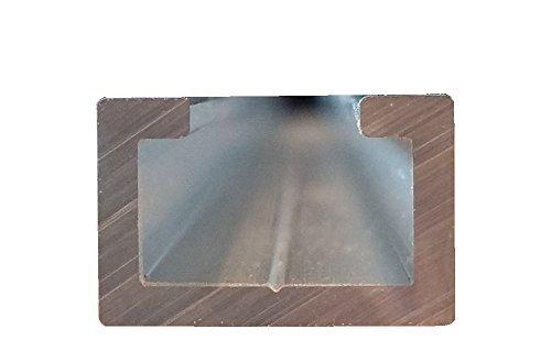 1/m compatible avec vis M8 17/x 11/mm Profil/é en C en aluminium anodis/é