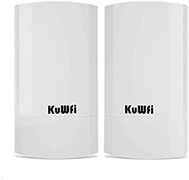 KuWFi Puente CPE,Punto de Acceso inalámbrico/CPE de Exterior inalámbrico de Punto a Punto para Interiores y Exteriores Admite una solución de ...