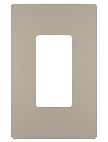 Legrand - PASS & SEYMOUR RWP26NICC6 Radiant Single Gang Screwless Plastic Wall Plate, Decorative wall plate, Nickel -