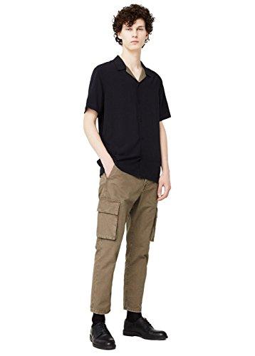 Mango Men's Cotton Cargo Trousers, Tobacco Brown, 36