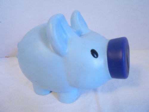 Fifth Third Blue Plastic Piggy Bank