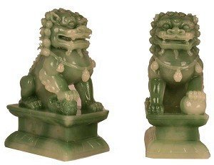 (Asian Home Hong Tze Collection-A Pair Of Jade Beijing Foo Dogs (Small))