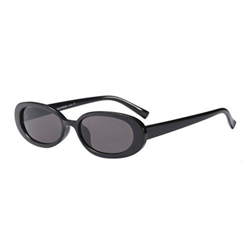 Zhuhaitf y Mujeres Sol de Caja Ovaladas Gafas Gafas Pequeñas de Black para UV400 Moda Women's 8YrqR8