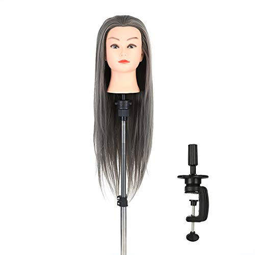 Mannequin Training Head, Portable Practice Head Tripod Stand Holder for Hairdressing Makeup Beauty Salon Hair Cosmetology Mannequin Training Doll Model Head with Stand
