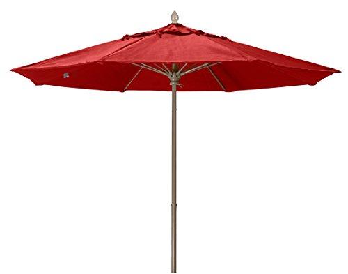 Market Umbrella Fiberbuilt (FiberBuilt Umbrellas 7MPUCB-8608 Market Umbrella, 7.5' Marine Grade Canopy, Cardinal Red)