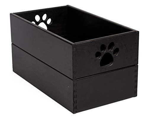 (Pet Toy Box Antique Black)