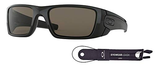 - Oakley Fuel Cell OO9096 909601 60M Polished Black/Warm Grey Sunglasses For Men +BUNDLE with Oakley Accessory Leash Kit