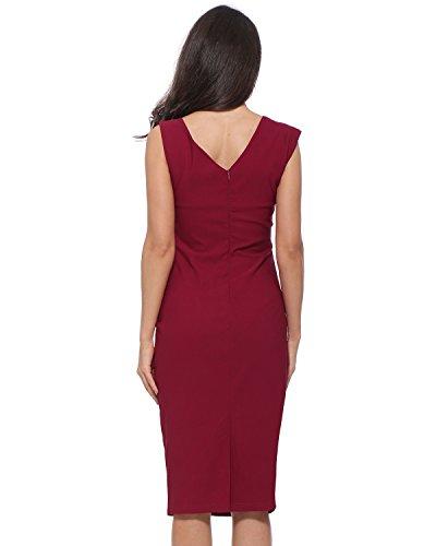 Robe De Femmes Kenancy Rouge Foncé