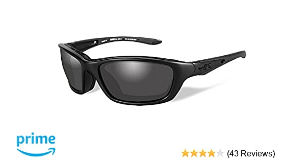 0095d3cd2025 Amazon.com: Wiley X Brick Sunglasses, Smoke Grey, Matte Black: Sports &  Outdoors