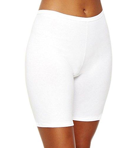 Calida Comfort Stretch Cotton Long Leg Panties (26024) M/White