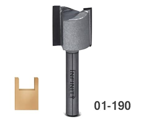 Infinity Tools Mortise and Tenon Router Bits (1/2' Shank, 1-1/4' Cut. Diam., 1/2' Cut. Height) 1-1/4 Cut. Diam. 1/2 Cut. Height)