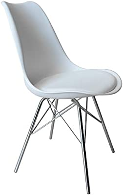 Kitchen Dining Chairs with Sturdy Metal Legs, High Backrest Dining Breakfast Chair for Home Kitchen Living Room (White+ 4pcs)