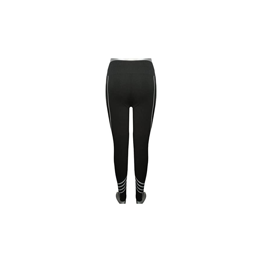 Paymenow Women Sexy Leggings Skinny Line Tummy Control Workout Running Yoga Leggings Fitness Sports Pants