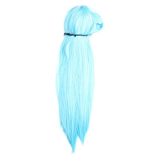 Merssavo Womens Ladies Girls Long Straight Wig Cosplay Costume Fancy Dress Party Hair Wigs Hairpieces (Womens Fancy Dress Wigs)
