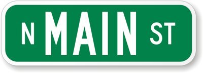 te on green), 2-Sided Engineer Grade Reflective Aluminum Street Sign, 24