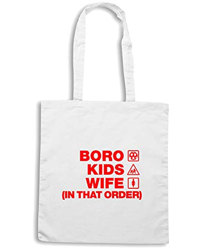 Shirt Speed STEVENAGE Shopper Borsa BORO Bianca WC1489 zprpdx7