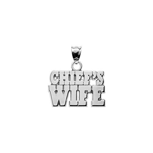 Jewelry Pendants & Charms Themed Charms S/S CHIEFS WIFE BLOCK LETTERS