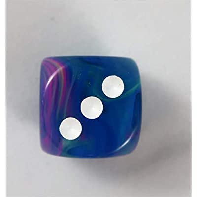Chessex Festive 12mm D6 Dice Set Waterlily: Toys & Games