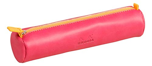 Rhodia 215 x 50 mm Round Pencil Case, Raspberry