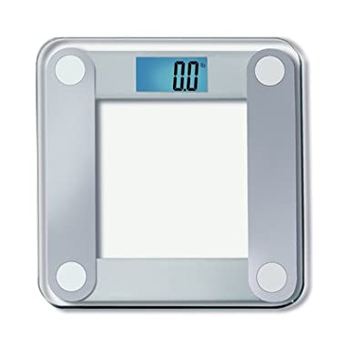 EatSmart Precision Digital Bathroom Scale w/ Extra Large Lighted Display, 400 Pound Capacity and  Step-On  Technology