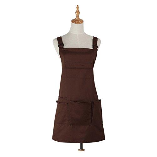 Nanxson(TM) Fashion Women Multi Function Working Work Apron with Tool Pockets CF3010 coffee
