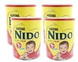Nestle Nido Kinder 1+ Powdered Milk Beverage 3.52 lb. Canister (Pack of 4)
