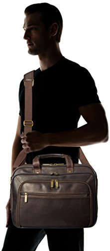 Heritage Double Gusset Top Zip EZ Scan Computer Case with IPad Tablet Pocket, Brown, One Size by Heritage Travelware (Image #5)