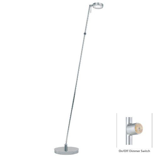 George Kovacs P4304-077, George's Reading Room, 1 Light Pharmacy Floor Lamp, Chrome