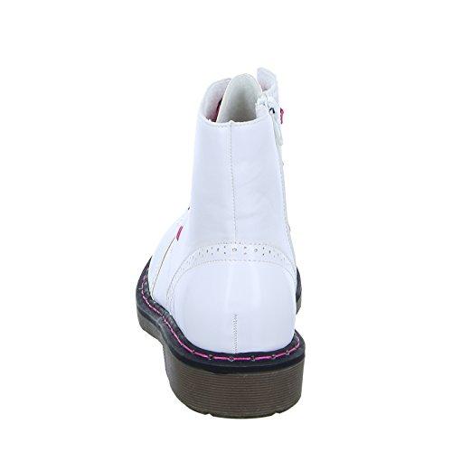 Cats 75.262 Damen Stiefel Stiefelette Schnürer Reißverschluss Warmfutter Weiß (White)