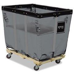 Royal Basket Trucks Spring Lift, 24 x 36, 16 Bushel, Vinyl/Steel, Gray