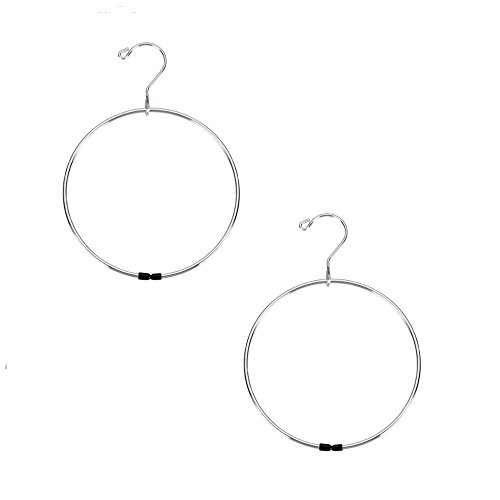 (Richards Homewares - Bundle - *2 Pack* Gel and Vinyl Dipped Belt Ring Hanger)