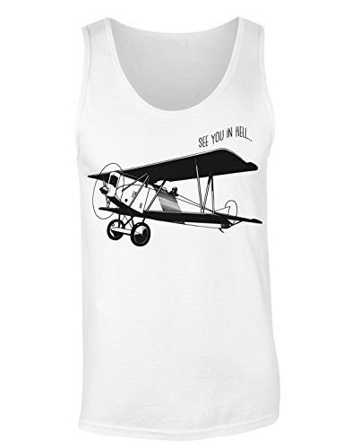 See You In Hell Small Amateur Plane T-shirt senza maniche per Donne Shirt