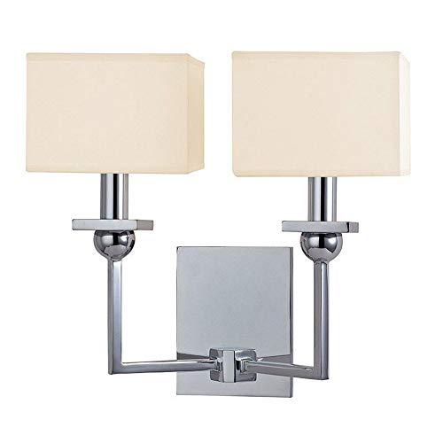 Hudson Valley Lighting 5212-PC Morris - Two Light Wall Sconce, Polished Chrome (Polished Chrome Wall Sconce Lamp)