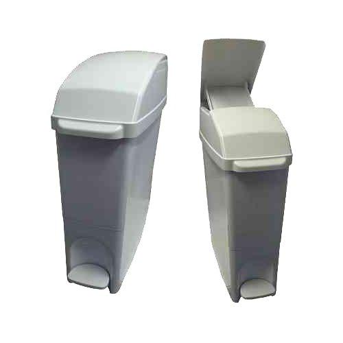 C21 Hygiene C21SANW Pedal Operated Sanitary Bin, 15 L, White C21 Hygiene Ltd