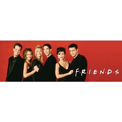 Click for larger image of Friends ( Group (Black and Red)) Poster 36x12