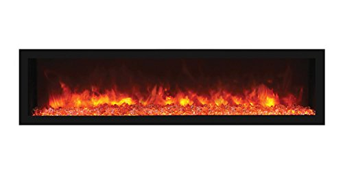 Cheap Remii Deep Indoor Electric Fireplace Black Steel Surround (102765-DE) Built-In 65-Inch Black Friday & Cyber Monday 2019