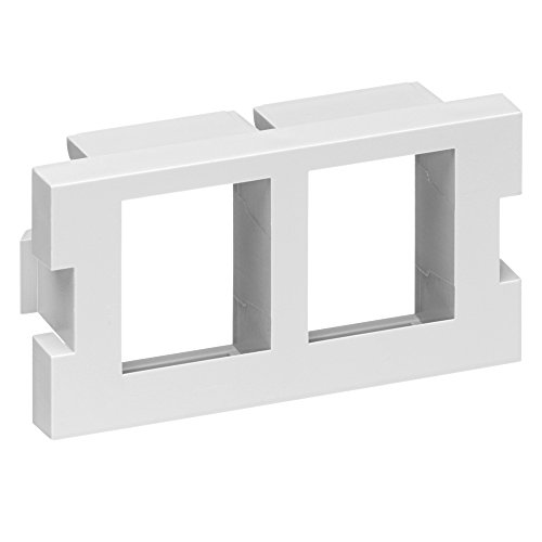 Leviton 41291 2Qw 2 Port Multimedia Outlet System Quickport Adapter Module  1 Unit High  White