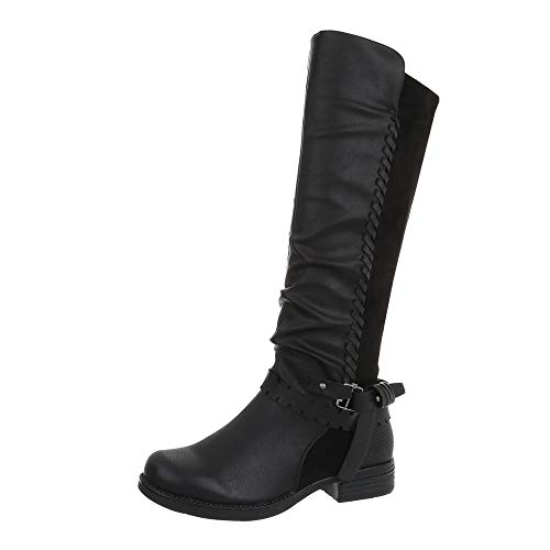 Boots Cowboy Design Women's Ital Black xqg6zwBwO