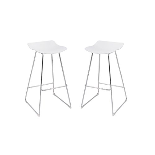 Amazon Com Emerald Home Neo White 30 Quot Bar Stool With