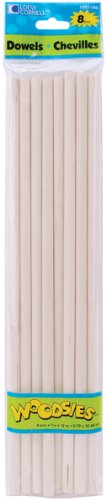 Woodsies Dowel Rods 8 Piece Set - 12