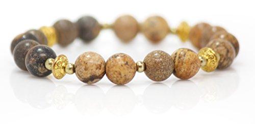 sandstone-gold-metal-charm-bracelet-wearable-energy-healing-crystals-and-stones-yoga-bracelet-medita