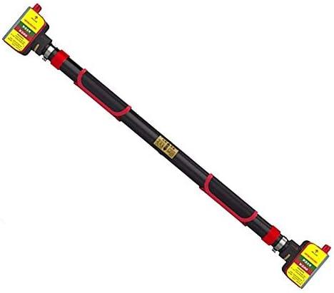 ドアジム エクササイズバー プルアップバーウォールチンアップバーバーシットアップドアジムアジャスタブル水平バー多機能エクササイズフィットネス機器78〜103センチメートル(赤)をマウント 室内トレーニング器具 (Color : Black, Size : 93-130cm)