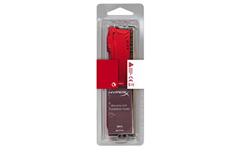 Kingston Technology HyperX Fury Red 16GB 3466MHz DDR4 CL19 DIMM Memory HX434C19FR/16