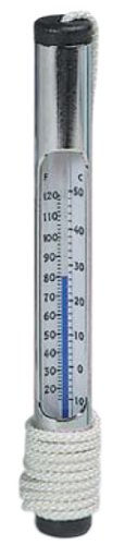 Pentair R141076 130 Chrome Brass Tube Thermometer with Blown Glass Tube Secured In Brass Tubing, 3-Feet Cord
