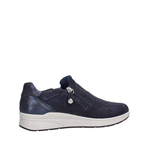 Sneakers Mocassini Blu Donna Soft Enval Slip 3266611 On Zip Pelle wUXq7Rx