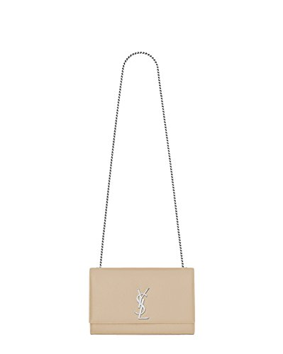 Saint Laurent Women's 364021Bow0n9906 Beige Leather Shoulder Bag