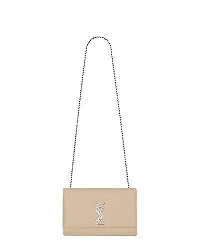 Saint Laurent Women's 364021Bow0n9906 Beige Leather Shoulder Bag by Saint Laurent