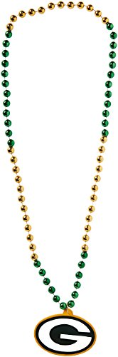 NFL Green Bay Packers Team Logo Mardi Gras Style Beads