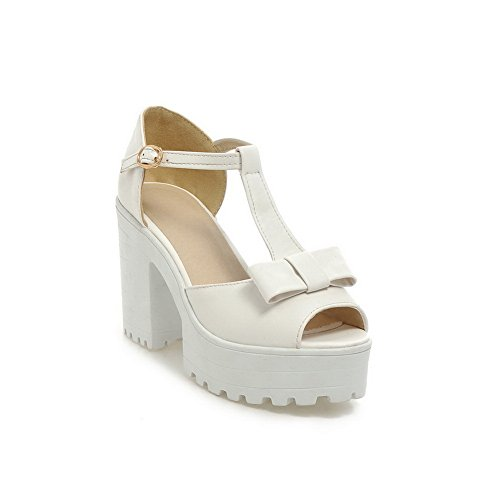 Heels White High Girls Sandals Material 1TO9 Soft European Style UFEw8xq8